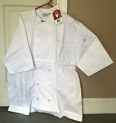 Chef Works Coats white Extra Large professional kitchen restaurant New with tags