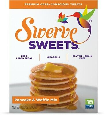Swerve Sweets Pancake & Waffle Mix 300 g, No Sugar, Low Carb, Keto