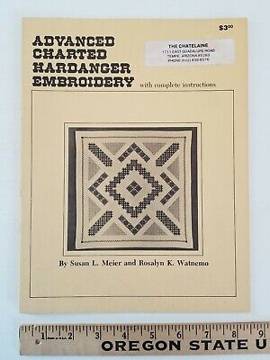 Charted Hardanger Embroidery Book - Compiled By Meier & Watnemo ILLUSTRATED