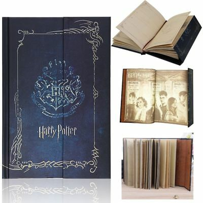 AU Harry Potter Vintage Blue Diary Planner Journal Book Agenda Notebook Notepad