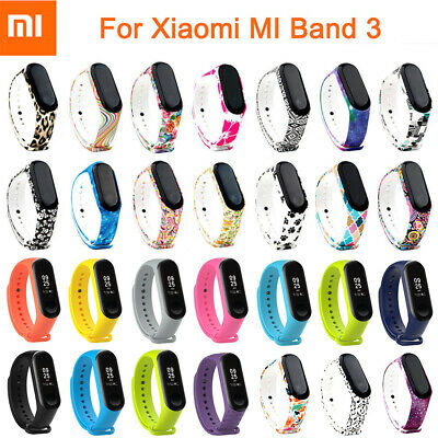 Silicone Bracelet Strap Wristband Wrist Band Replacement For Xiaomi Mi Band 3 4