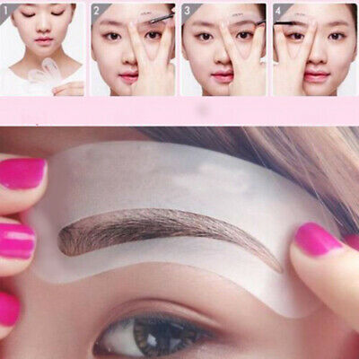 24 Styles Eyebrow Grooming Stencil Kit Template Make Up Shaping Beauty Tool UHV