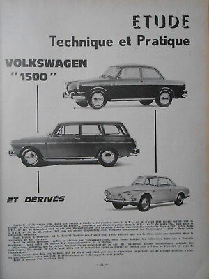 ► Revue Technique - Volkswagen 1500 & Derives + Facel Vega 1959/1960/1961