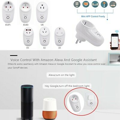 Sonoff S26 UK EU Plug TFTTT WIFI Smart Power Socket Wireless For Alexa Google