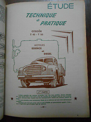 ► Revue Technique - Camions Citroen T45 - T55 - 1956