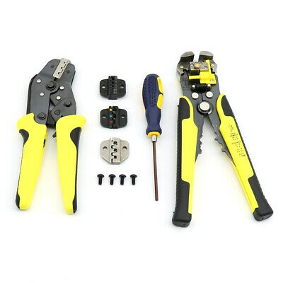 Multitool Wire Crimper Stripper with S2 Screwdriver Ratcheting Wire Cutter Tool