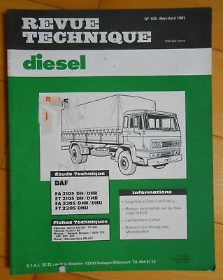 ►Revue Technique Camion Daf Fa // Ft - 1981