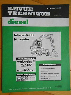 ►Revue Technique Pelles Hydrauliques International Harvester  - 1982