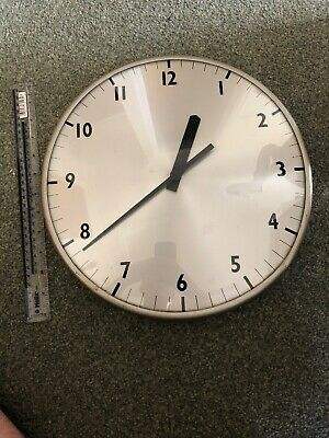 """VINTAGE 1960s GENTS OF LEICESTER INDUSTRIAL 12"""" SLAVE DIAL WALL CLOCK"""