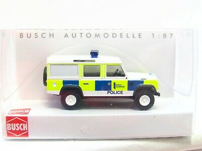 Busch 1/87 50324 Land Rover Defender Scottish Police OVP (LN457)
