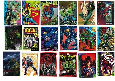 MARVEL varie serie trading card USA singole: base, parallel, speciali 1989-2017