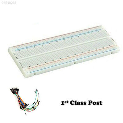 1BE4 Solderless Prototype Breadboard 830 Points Holes + 65x Jumper Leads Wires