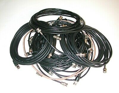Lot of 25 BNC Male-Male Coaxial Cables