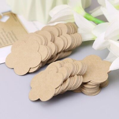 100X Vintage Blank Kraft Paper Hang Tags Wedding Favor Label Gift Cards Lable