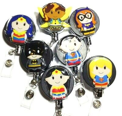Justice League DC Heavy Weight Badge Reels Retractable ID Holder - Superman etc