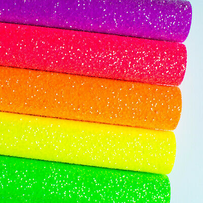 Sugar Frosted Neon Chunky Glitter Fabric - Premium Quality For Crafts & Bows