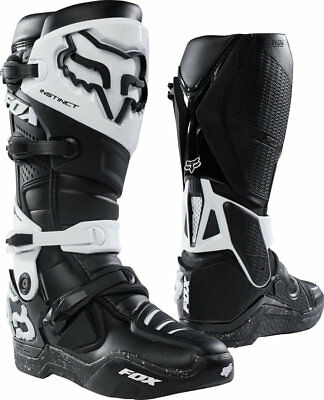 FOX Instinct Boots - Black/White Sale Motocross Off road Adult sizes