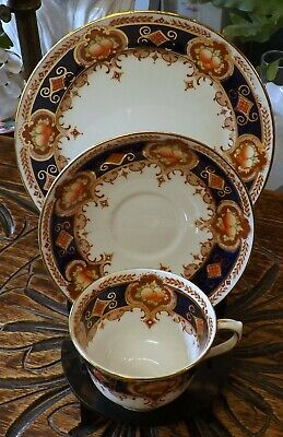 Royal Albert Crown China Imari Style Trio, 6158, Antique, Hand Painted