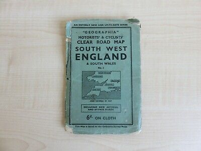 Geographia Motorists and Cyclists South West England and South Wales, No 2.