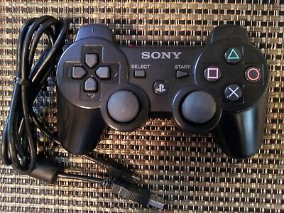 Original Official Genuine Sony PS3 Wireless Dualshock 3 Sixaxis Controller Black