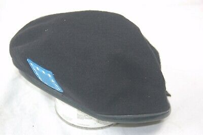 f278893a8375d NEW DSCP Garrison Collection US Army Black Wool Beret with Blue Patch Size 7  1