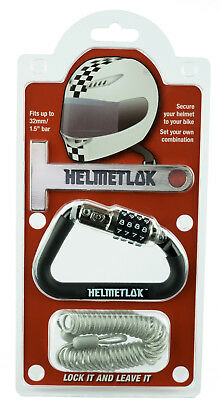 HelmetLok Motorbike Crash Helmet Lock & Extension Cable & T-Bar Quality Item
