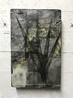 Original MODERN Abstract Painting DAVID GEISER Expressionist New York MOODY