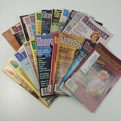 The Workbasket & Home Arts Magazine 22 Vintage Issues 1982-1989 Quilt Sew Knit