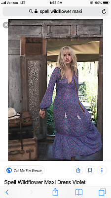 656d92b9633 SALE BNWT Spell   The Gypsy Collective Spell Designs Wildflower Gown with  slip L
