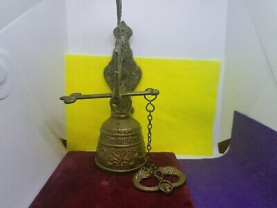 Vintage Antique Vocem Meam A Ovime Tangit Brass Hanging Door Knocker Collectible