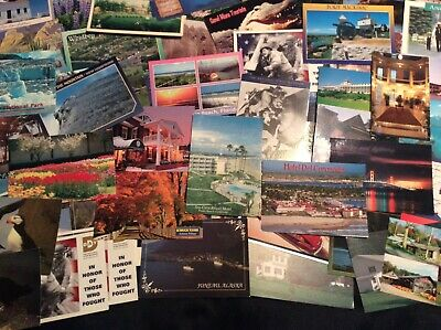 """New """"Old"""" Vintage U.s. Trip Travel Vacation Attractions Postcards (Lot Of 70)"""