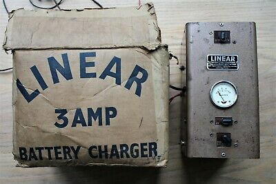 Vintage Linear Battery Charger - Classic Car Garage Workshop Boxed Instructions