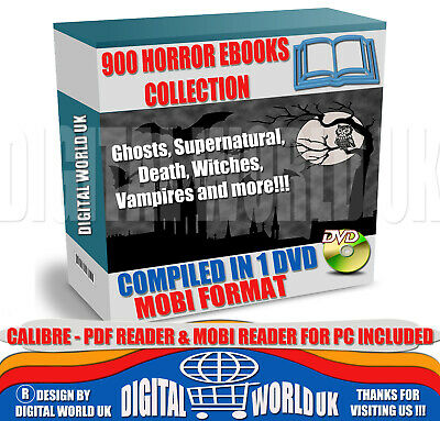 900 Horror eBooks Collection in MOBI Format - Ebooks on 1 DVD - CHEAPEST!!!