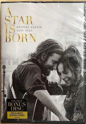 A Star Is Born (DVD) 2-Disc Bradley Cooper Lady Gaga New Sealed