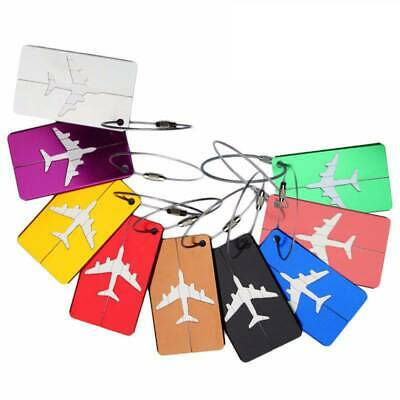 Aluminium Travel Luggage Tags Suitcase Label Name Address ID Bag Baggage Tool