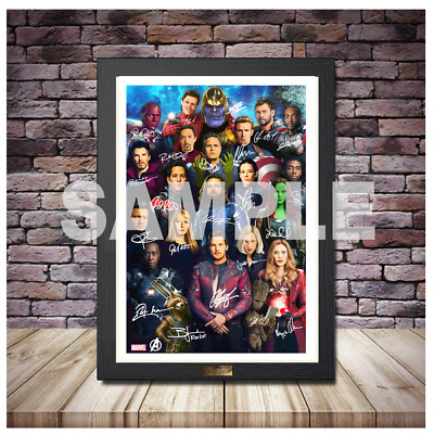 Avengers Endgame Marvel Comics Superheroes Portraits & Signatures A4 A3 A2 Sizes