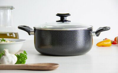 28CM Non Stick Coated Stockpot Casserole Cooking Fry Pot Pan INDUCTION Cookware
