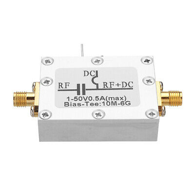 ⟦NEW⟧ RF Splitter Bias Coaxial Feed Bias Tee 10MHz-6GHz Low Insertion Loss Wideb
