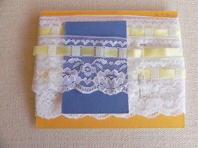 Card of New Lace - White with Lemon Ribbon