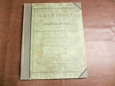 Books 1817 Book Titled Cottages And Landscape Gardening Plans By William Ranlett