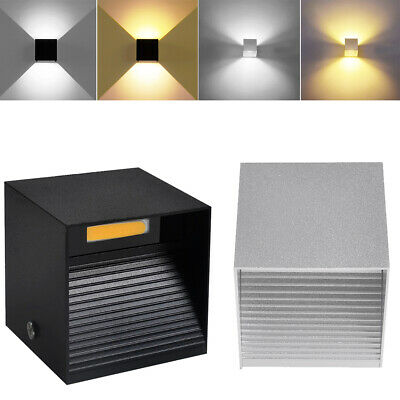 LED Wall Light 12W Modern Up Down Cube Sconce  Indoor Outdoor Corridor Lighting