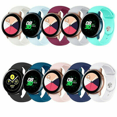 For Samsung Galaxy Watch Active Sport Silicone Wrist Band Replacement Strap 20mm