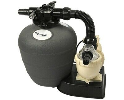SMALL SWIMMING POOL SAND FILTER PUMP EMAUX ULTRA .2HP 8M/HR 2200 GALS/Hr TIMER