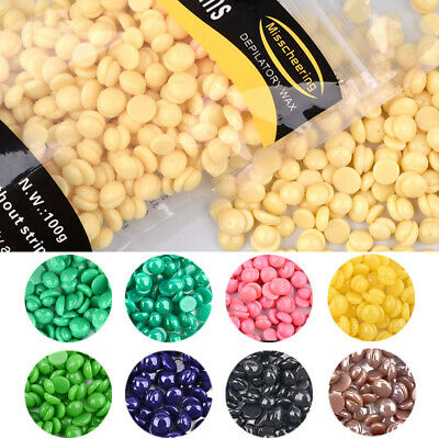 50g Hard Wax Beans Hair Removal Waxing Hot Bikini Depilatory No Strip Pellet Lot