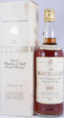Macallan 1963 18 Years Sherry Wood Special Selection Scotch Whisky 43,0% / 75cl