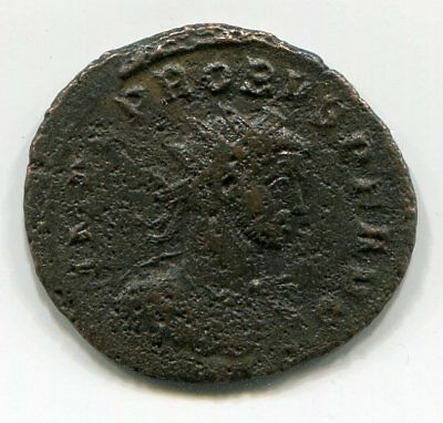 Cleaned Roman coin from Late Roman Empire between 300 - 400 AD