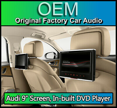 "Audi DVD player 9"" Screens, Audi RSE package 4G0051700F twin rear kit GENUINE"
