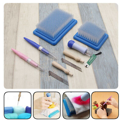 Needle Felting Handle Holder Tool With 7 Needles Wool Embroidery Hobby Craft Kit