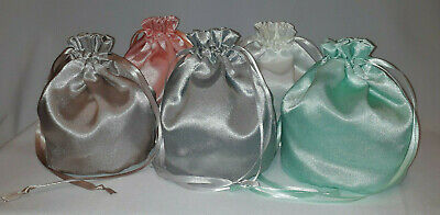 Plain Shimmer Satin Dolly Bag Handbag / Purse Wedding Bridesmaid Many Colours