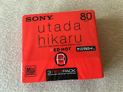 MD 3 x Sony UtadaHikaru 80 OVP Pack Neu Japan